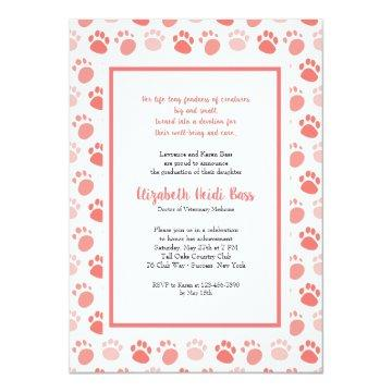 Paw Prints Veterinary School Graduation Invites