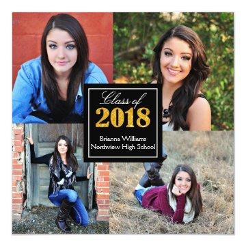 Personalized Class of 2018 Senior Graduation Photo Invitation