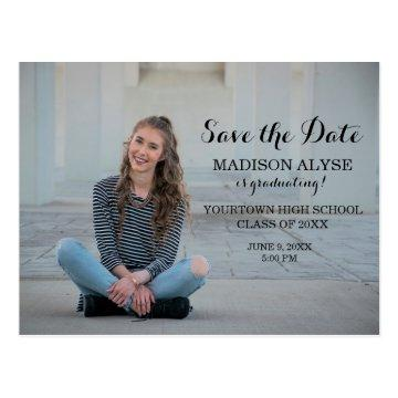 Personalized Photo Graduation Save the Date Postcard