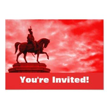 Personalized Roman Soldier Statue Graduation Party Card