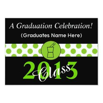 Pharmacist Graduation  Green Black