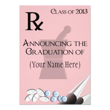 Pharmacist Graduation  Rx Pad Design II