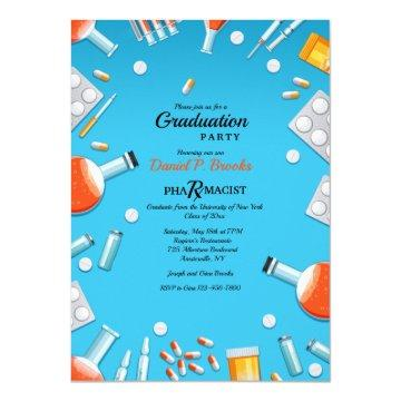 Pharmacology Graduation Party Invitation