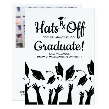 Pharmacy School Rx Grad Photo Graduation Party Card
