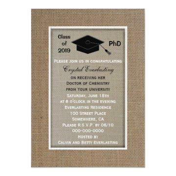 PhD Doctoral Graduation Announcement Invitation