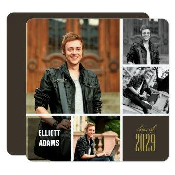 Photo Collage Grad Squares Graduation Party Invite
