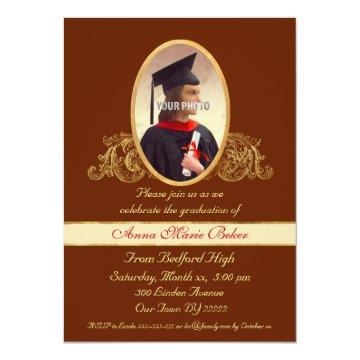 Photo Frame Graduation Celebration Card