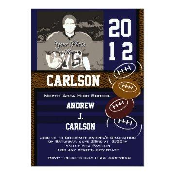 Photo Graduation/ Football Invitation