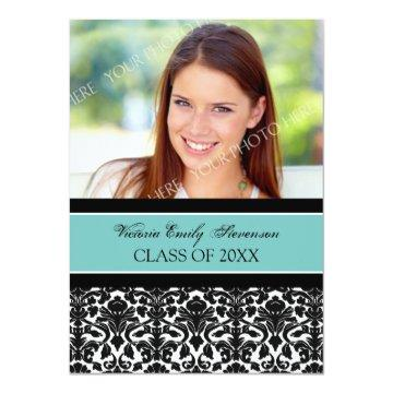 Photo Graduation Party  Card Teal