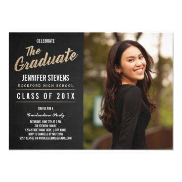 Photo Graduation Party  | Chalkboard