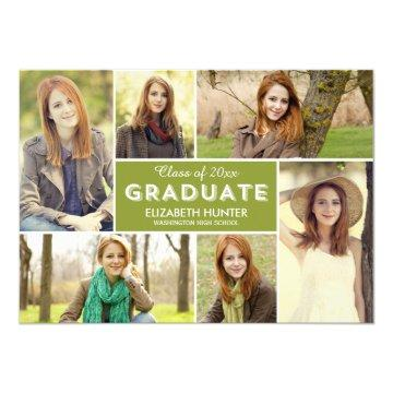 Photo Showcase EDITABLE COLOR Graduation Card
