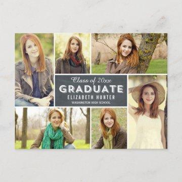 Photo Showcase Graduation Announcement Chalkboard