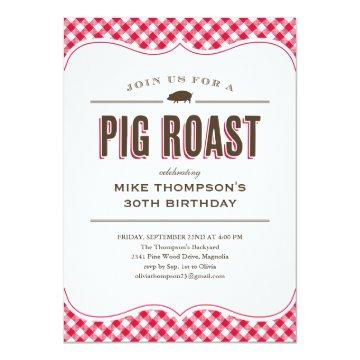 Pig Roast Table Cloth