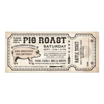 Pig Roast Ticket  with Raffle Ticket v1