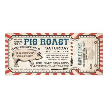 Pig Roast Ticket  with Raffle Ticket v2