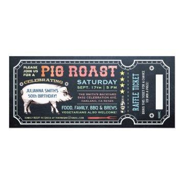 Pig Roast Ticket  with Raffle Ticket v5