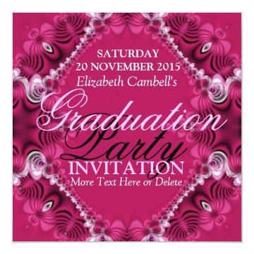 Pink Diva Fractal Lace Graduation Party