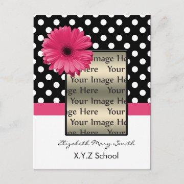 pink polka dot daisy photo Graduation
