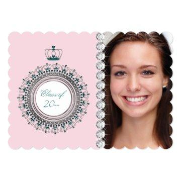 Pink Princess Graduation Announcements