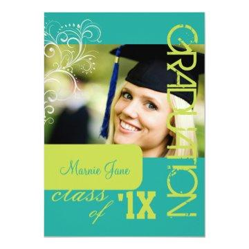 PixDezines Swirls, 2012 Graduation, DIY Color Invitation