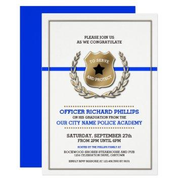 Police Academy Graduation Party Invitation