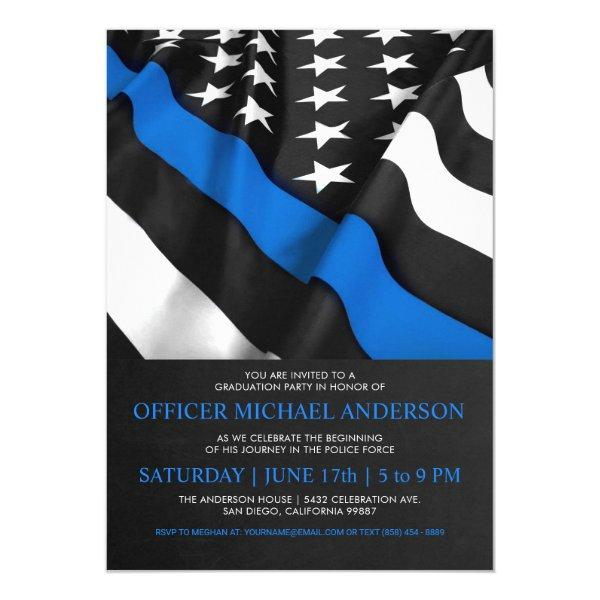 Police Graduation  | USA Flag