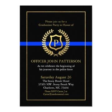 Police Academy Graduation Invitations Graduation Invitations