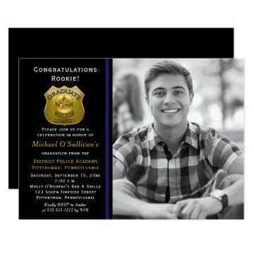 Police Photo Graduation Announcement | Party