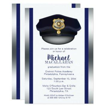 Policeman | Police | Cop Hat Graduation Party Invitation