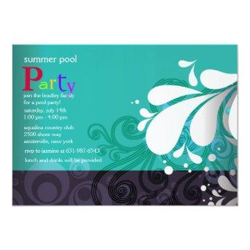 Pool Splash Invitation