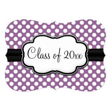 Posh Purple Polka Dot Graduation Card