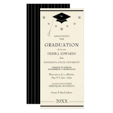 Professional College Graduation Announcement