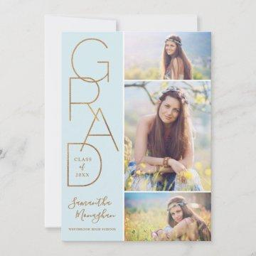 Proud Grad | Graduation Announcement | Blue