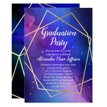 Outer Space Graduation Invitations