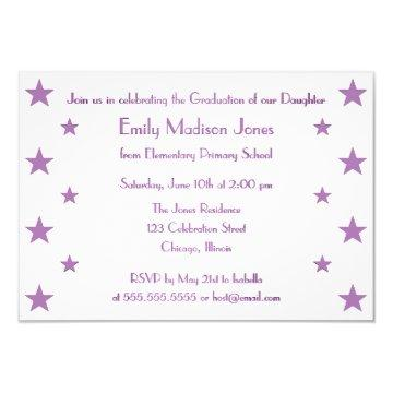 Purple Stars School Graduation Party