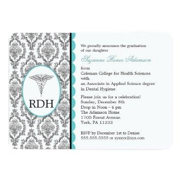 RDH Graduation Dental Hygienist Hygiene damask