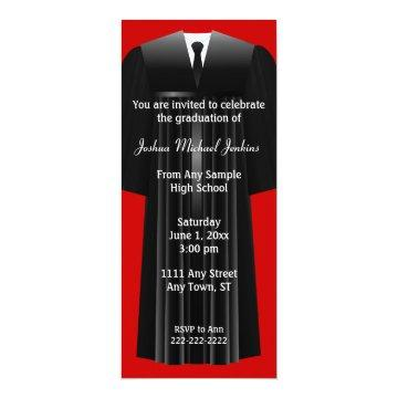 Red and Black Mens Graduation