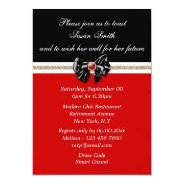 Red black white formal PERSONALIZE Card