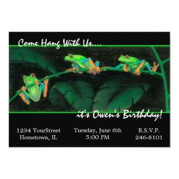 Red-Eyed Tree Frogs Invitation