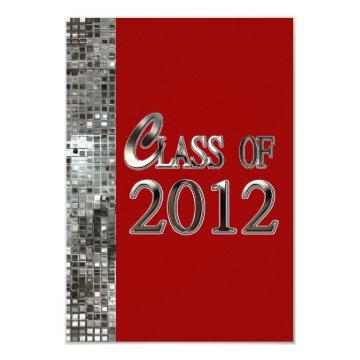 Red & Silver Sequins Graduation