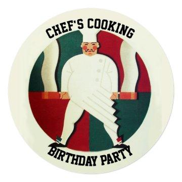 RESTAURANT CHEF COOKING BIRTHDAY PARTY