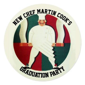 RESTAURANT CHEF COOKING CULINARY GRADUATION PARTY CARD