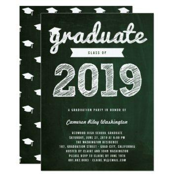 Retro Chalkboard Class Of 2019 Graduation Party
