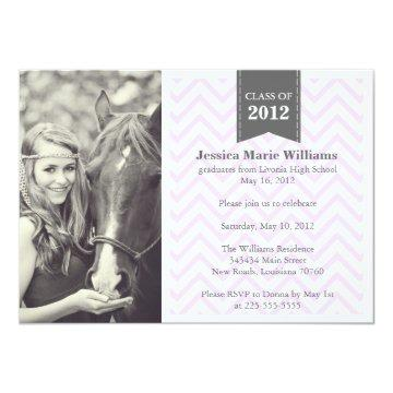 Retro Chevron Graduation Card
