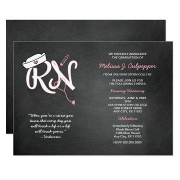 RN graduation nurse pinning ceremony invites