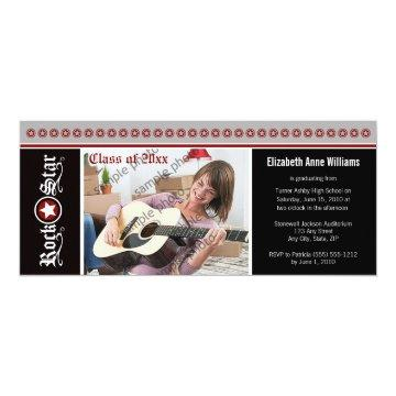 Rock on! Customized Graduation Announcement (red)