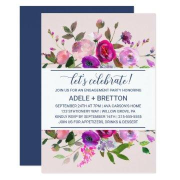 Romantic Garden Let's Celebrate Card