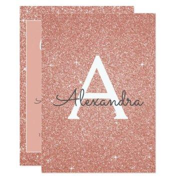 Rose Gold Glitter Class of 2018 Graduation Party