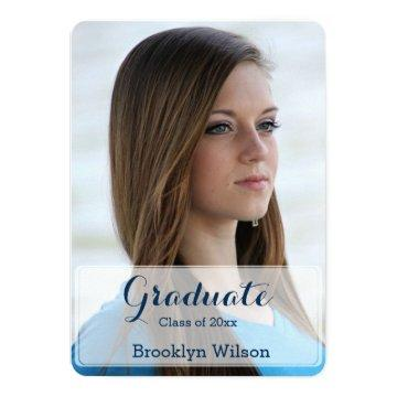 Round Personalized Graduation Party Invites