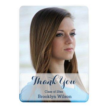Round Personalized Graduation Thank You Cards